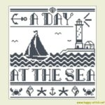 A Day at the Sea cross stitch pattern #3
