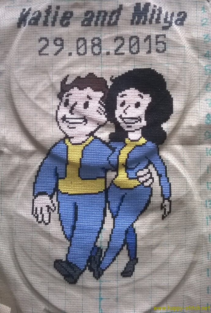 Fallout Vault boy and girl - a wedding present