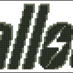 Fallout logo free cross stitch pattern