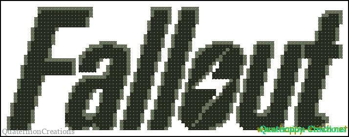 Fallout logo free cross stitch pattern