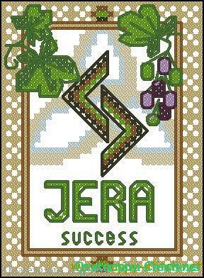 Jera rune free cross stitch pattern
