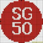 SG50 free cross stitch pattern