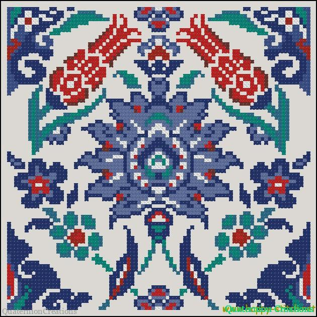 Eastern ornament free cross stitch pattern