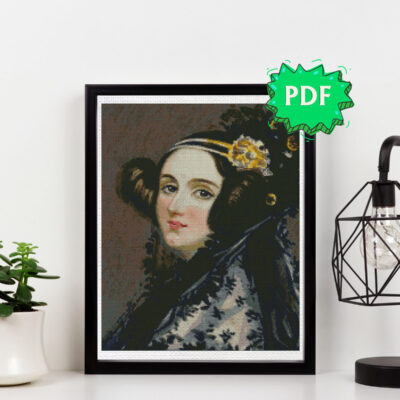 Ada Lovelace cross stitch pattern