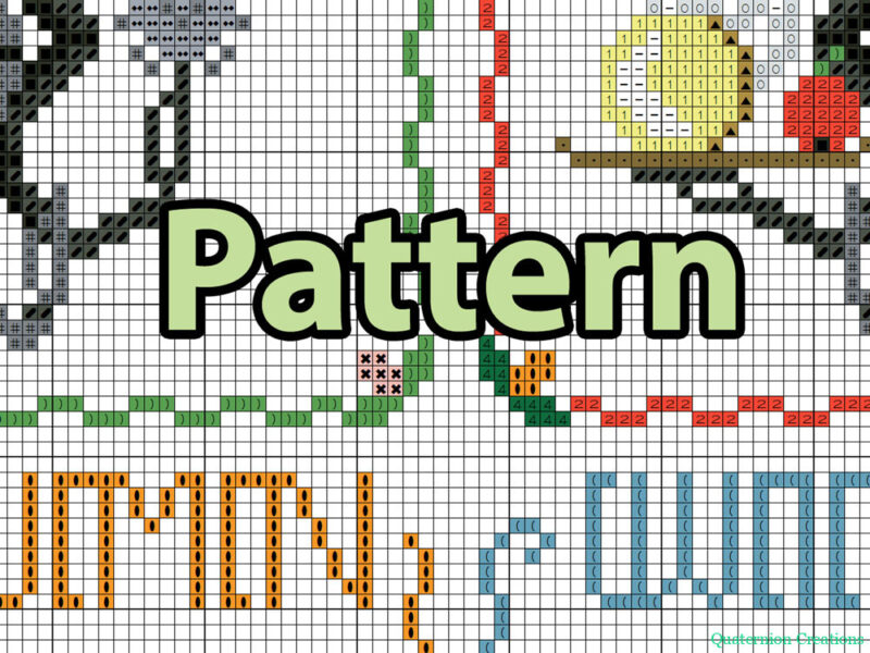 Chibi Mr Handy cross stitch pattern