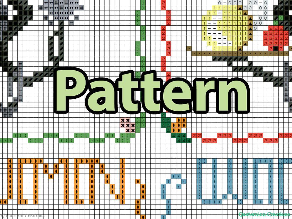 Chibi Mr Handy cross stitch pattern