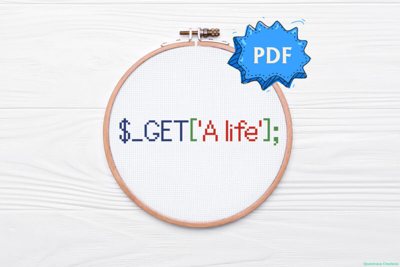 Get a life! PHP code cross stitch pattern