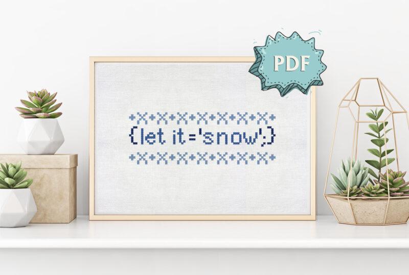 Let it snow - programming Christmas cross stitch pattern
