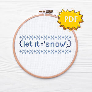 Let it snow - programming Christmas cross stitch pattern