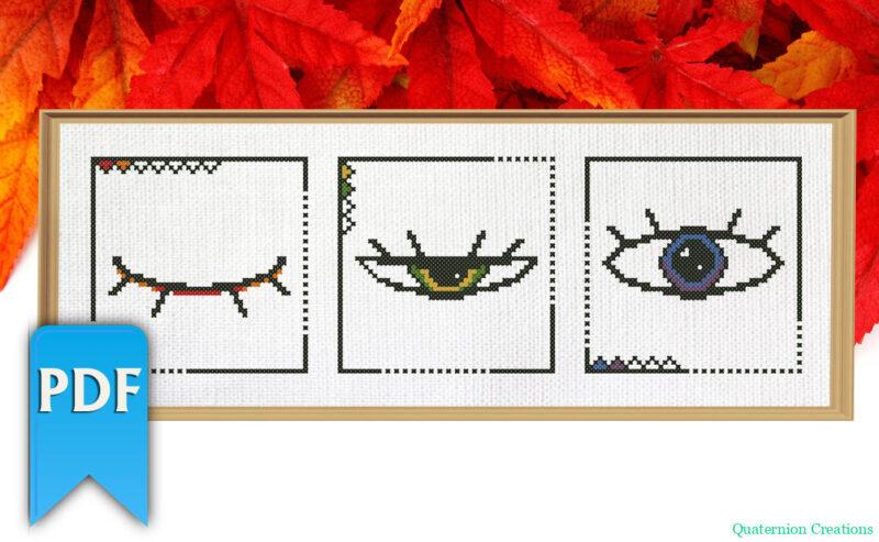 Open your eyes cross stitch pattern