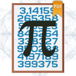 Pi cross stitch pattern