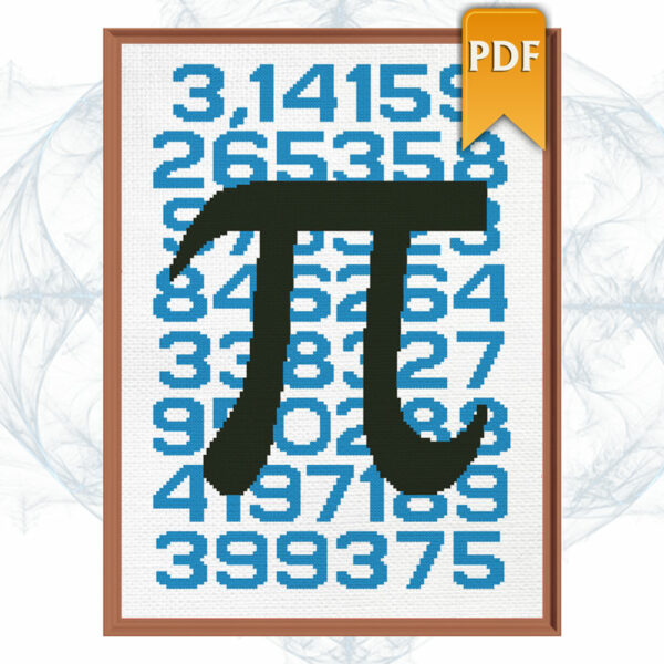 Pi cross stitch pattern
