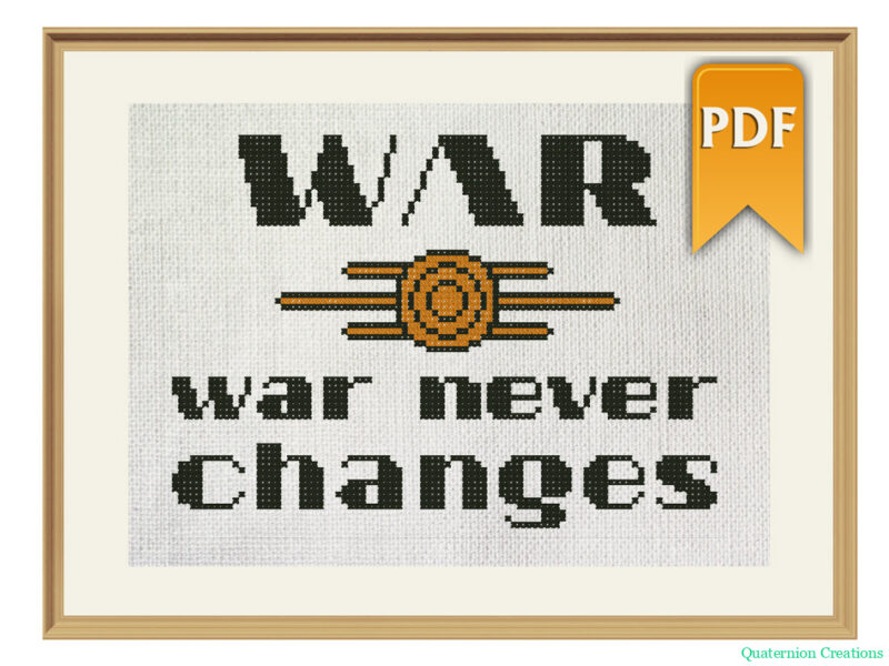 War, war never changes cross stitch pattern