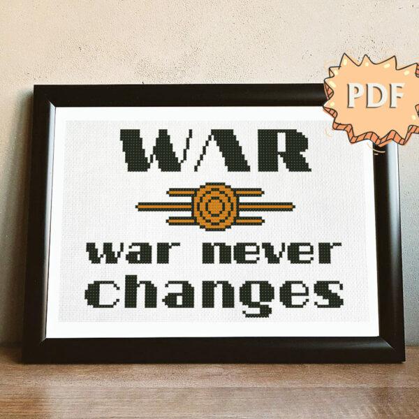 War, war never changes cross stitch pattern