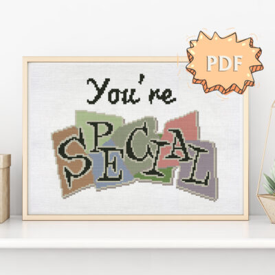You're SPECIAL cross stitch pattern