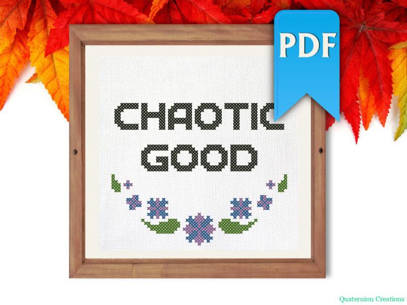 Chaotic good cross stitch pattern