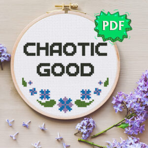 Chaotic Good - Morality alignment cross stitch pattern