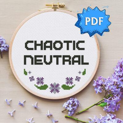 Chaotic Neutral cross stitch pattern