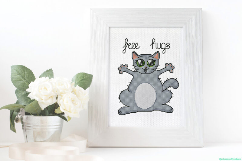 Free Hugs cross stitch pattern