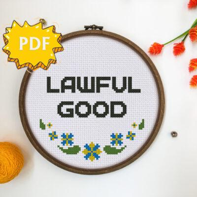 Lawful Good cross stitch pattern