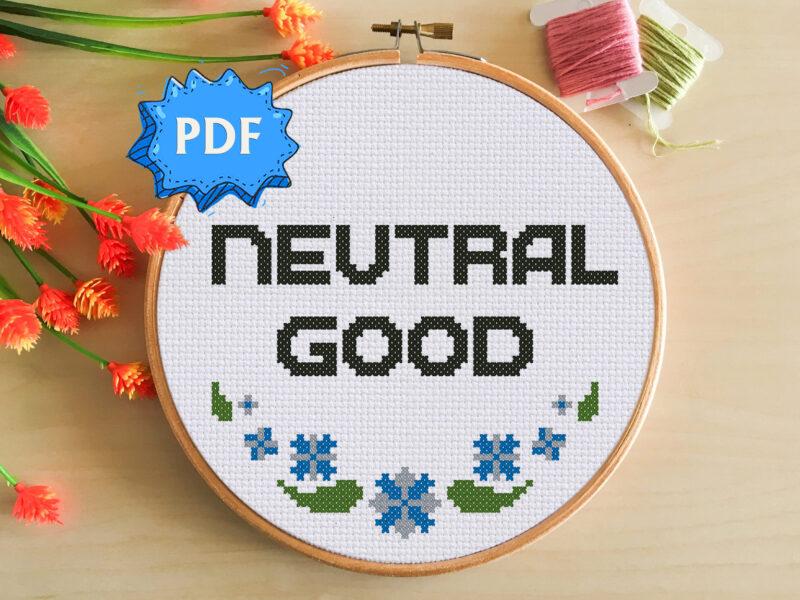 Neutral Good cross stitch pattern