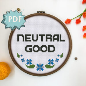 Neutral Good cross stitch pattern