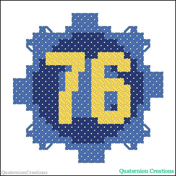 Vault door 76 cross stitch pattern