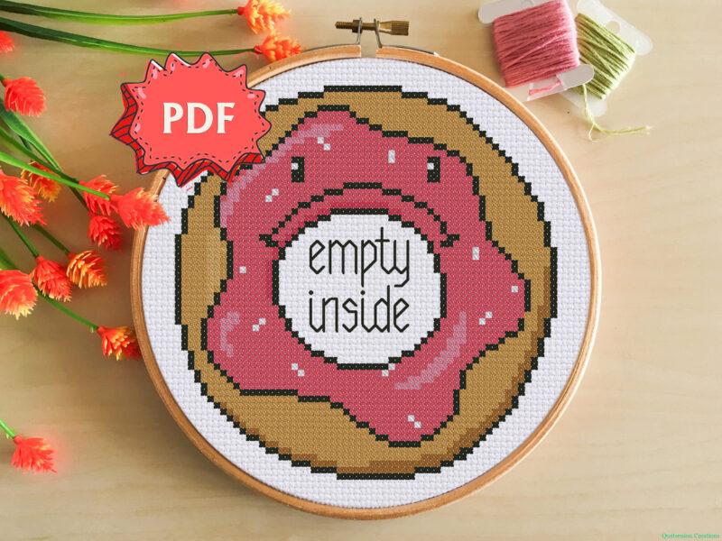 Depressed Donut (empty inside) cross stitch pattern