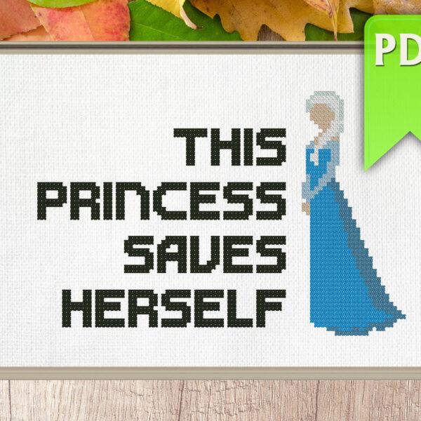 This princess saves herself (Elsa)