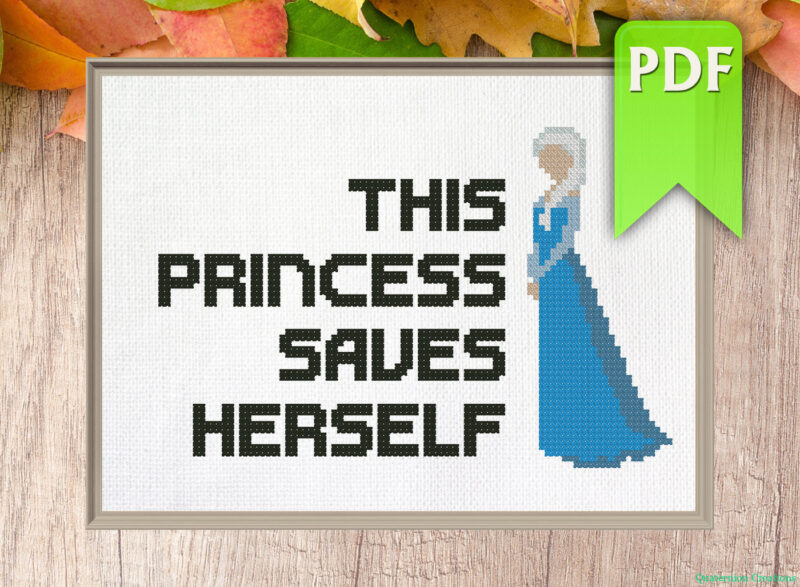 This princess saves herself (Elsa)
