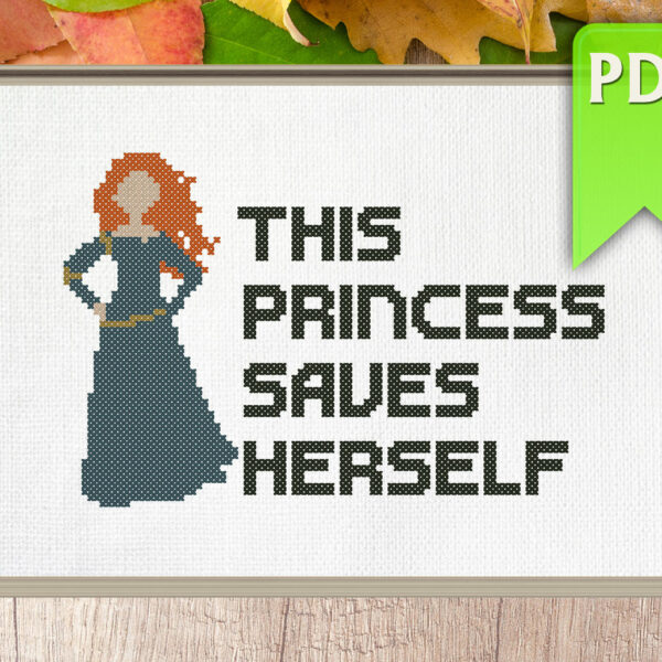 This princess saves herself (Merida)