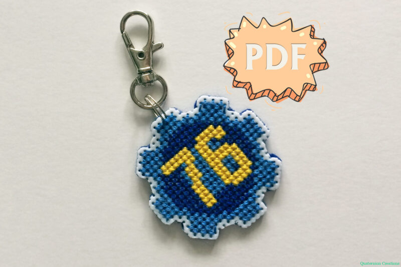 Vault Door 76 mini cross stitch pattern