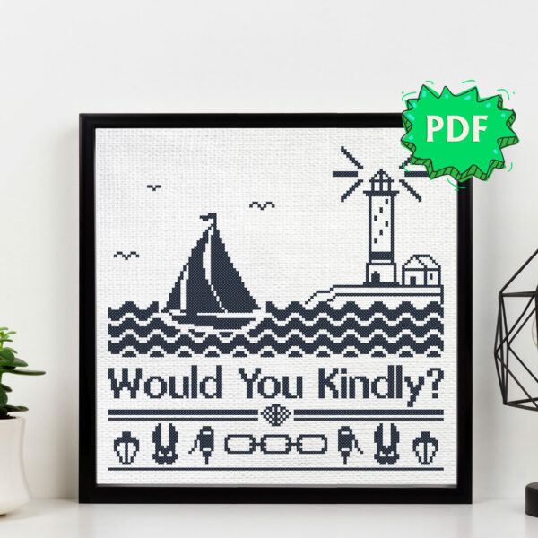 Would you kindly cross stitch pattern