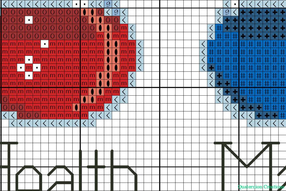 Health Mana Stamina cross stitch pattern for gamers