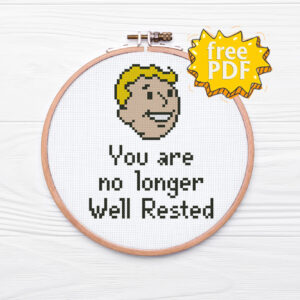 You are no longer well rested cross stitch pattern