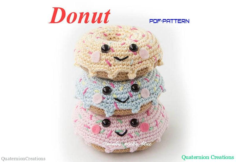 Crochet Donut pattern on Etsy