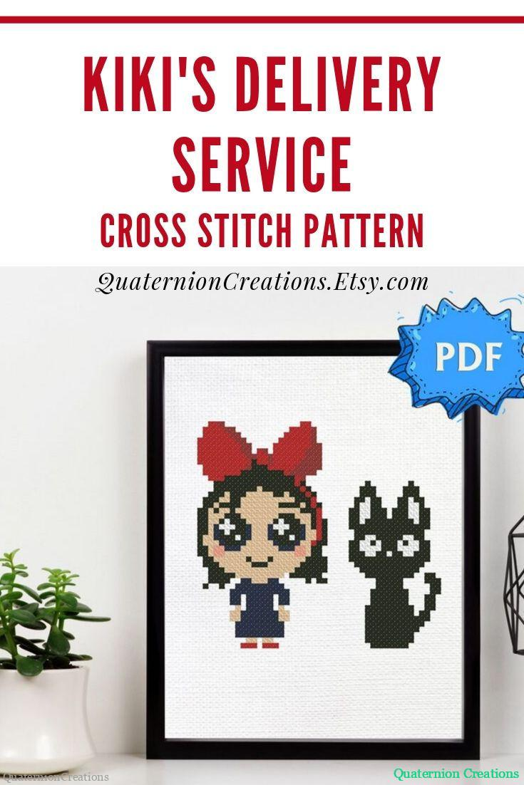 Kiki's delivery service cross stitch pattern
