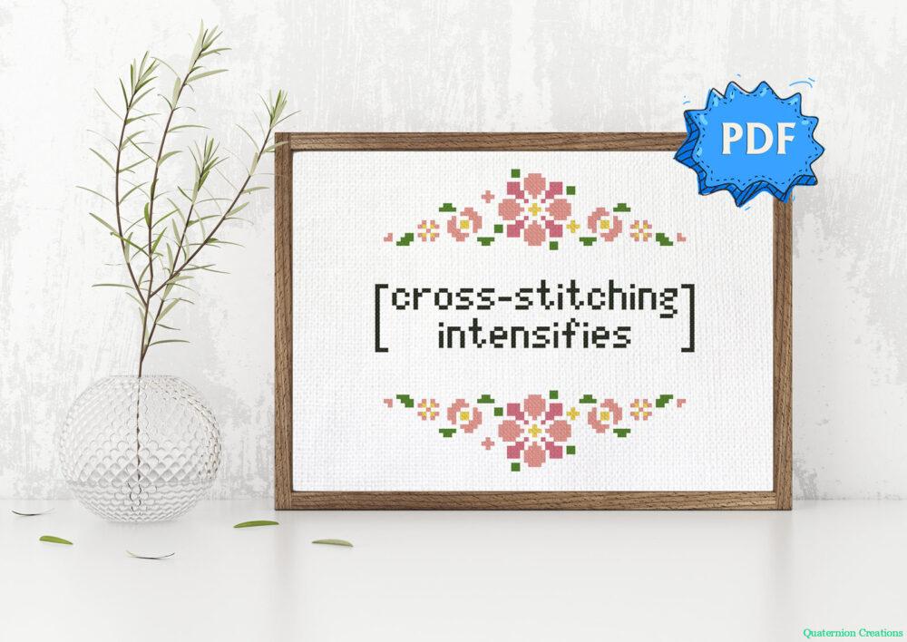 Cross stitching intensifies pattern