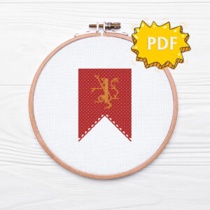 House Lannister cross stitch sigil