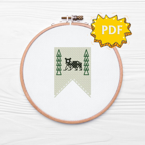 House Mormont cross stitch sigil