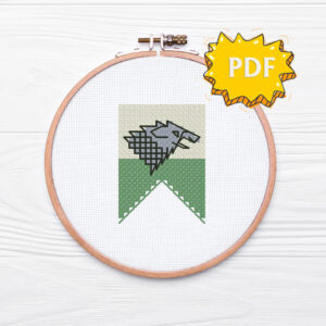 House Stark cross stitch sigil