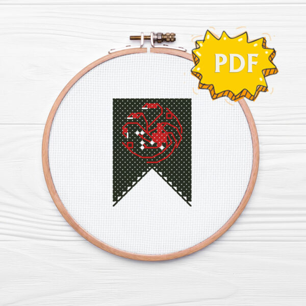 House Targaryen cross stitch sigil