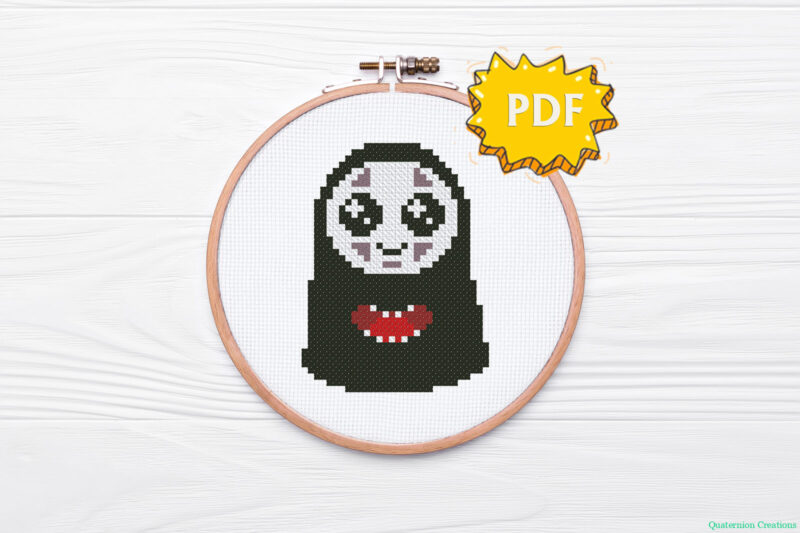Chihiro and NoFace cross stitch pattern