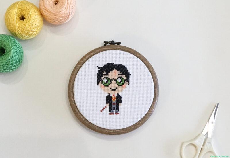 Cute Happy Potter cross stitch pattern