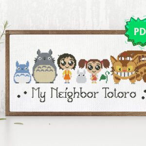 My Neighbor Totoro modern crossstitch pattern