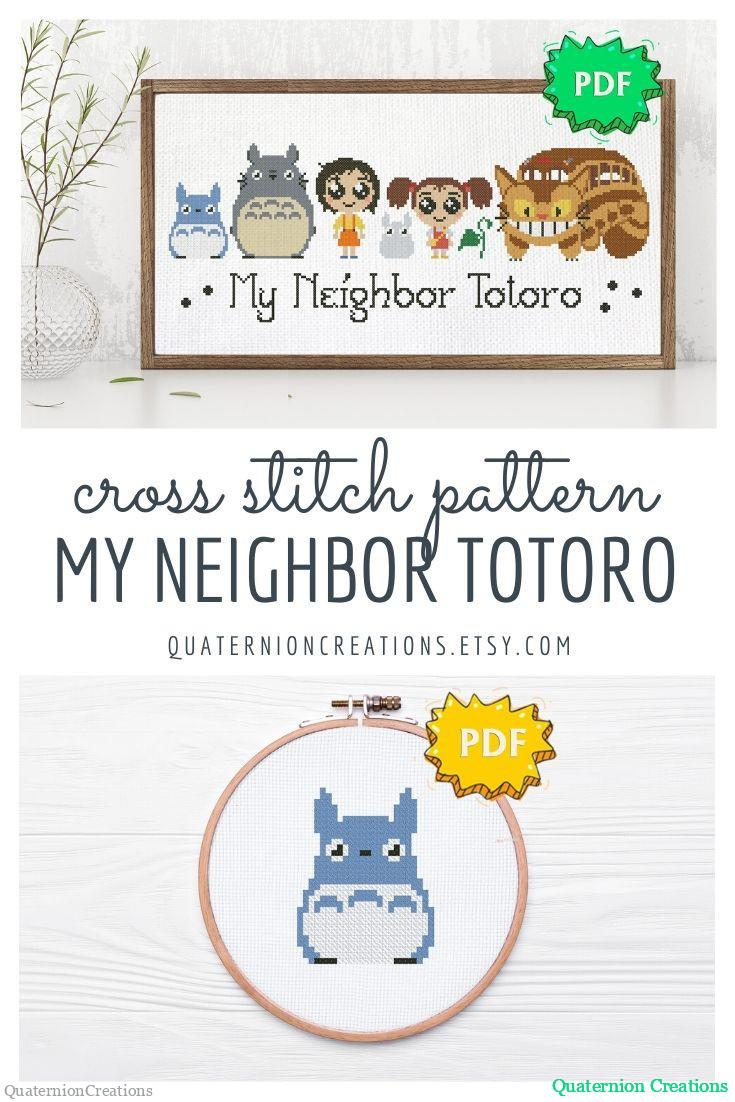 My neighbor Totoro cross stitch