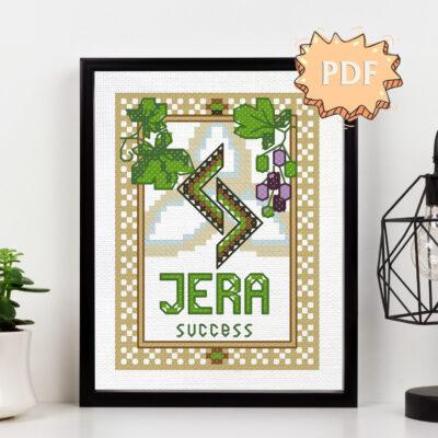 Rune Jera cross stitch pattern