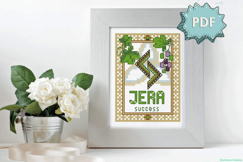 Rune Jera cross stitch pattern
