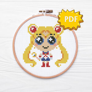 Chibi Sailor Moon cross stitch pattern
