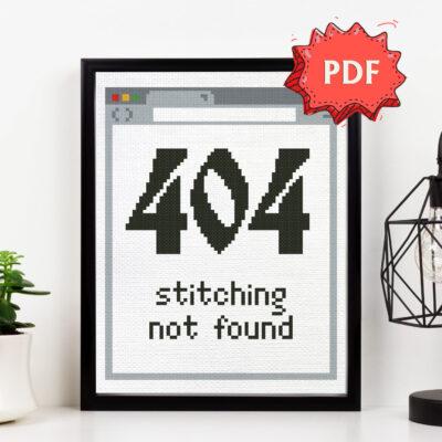 404 stitching not found cross stitch pattern